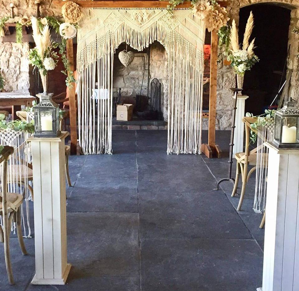 Event Macrame Arch Hire | Chocolate Falls