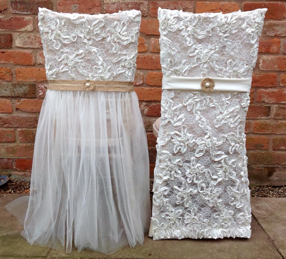Design your own Wedding Chair Covers | Chocolate Falls