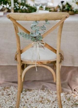 Eucalyptus Chair Backs Hire | Chocolate Falls