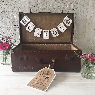 Vintage Suitcase Wedding Postbox   Chocolate Falls