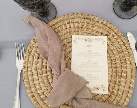 Bamboo Placemats Wedding Hire   Chocolate Falls