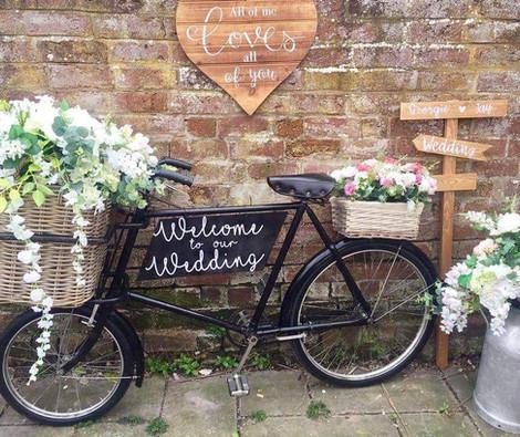 Vintage Bike Bespoke Sign   Chocolate Falls