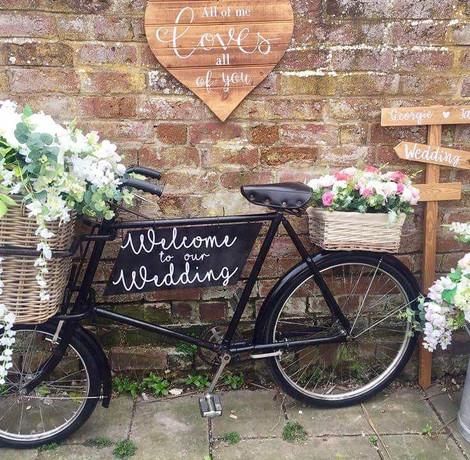 Vintage Bike Flower Display | Chocolate Falls