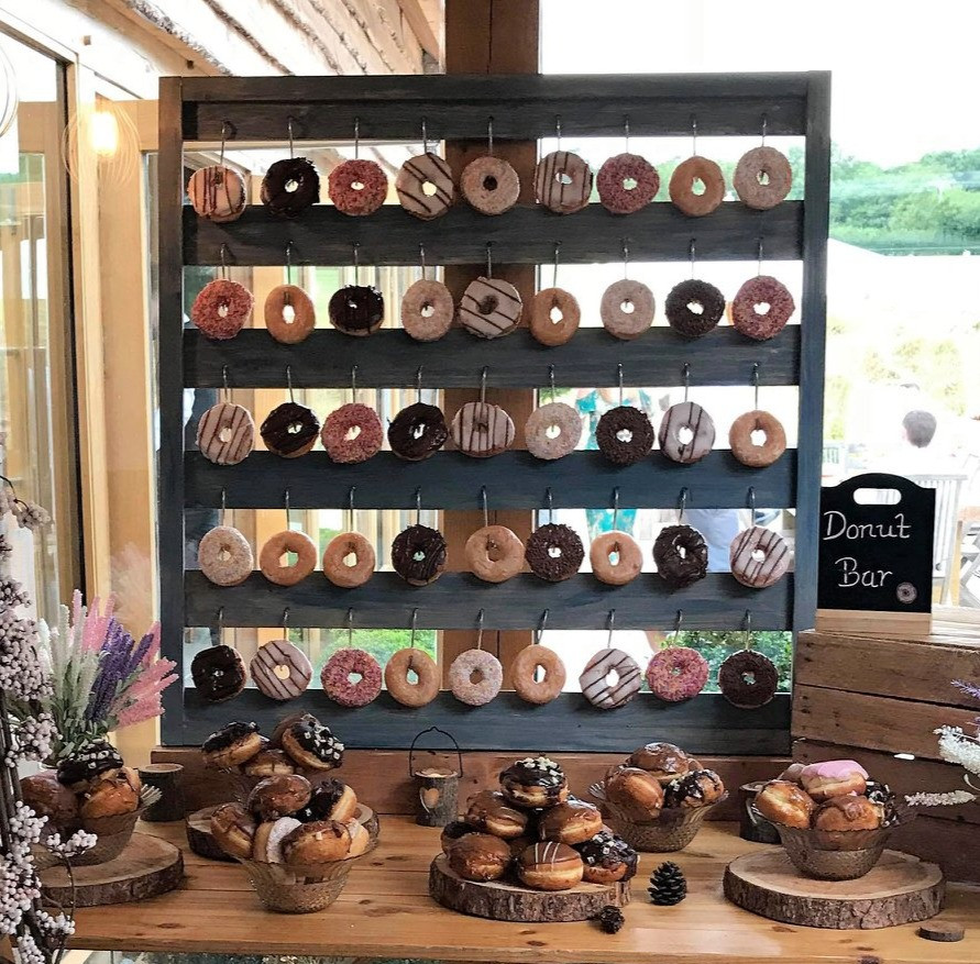 Rustic Wedding Donut Wall | Chocolate Falls