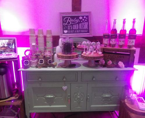 Hot Choc Bar on Dresser | Chocolate Falls
