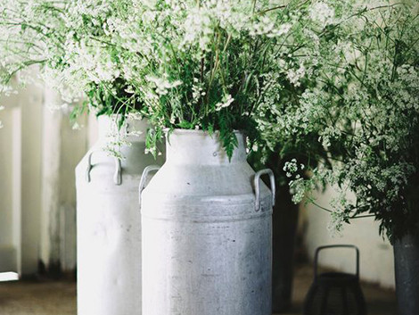 Rustic Flower Churns | Chocolate Falls