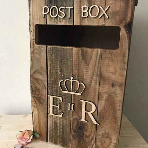 Rustic Post Box Event Hire   Chocolate Falls