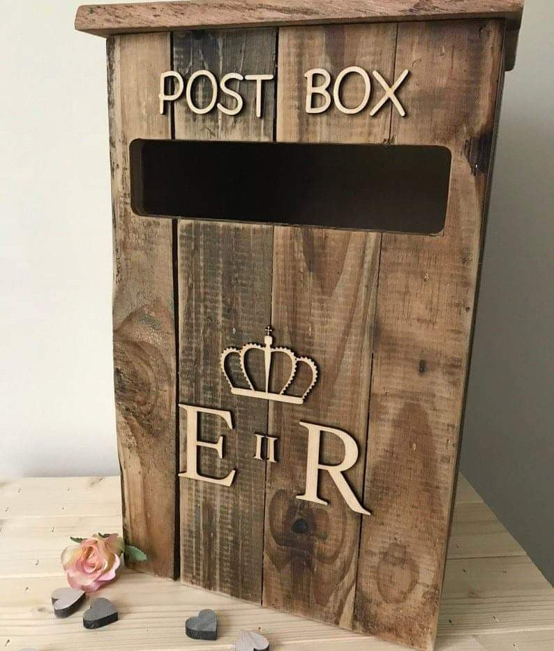 Wooden Event Post box | Chocolate Falls