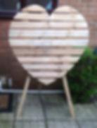 Wooden Heart - 4ft wide x 6ft tall