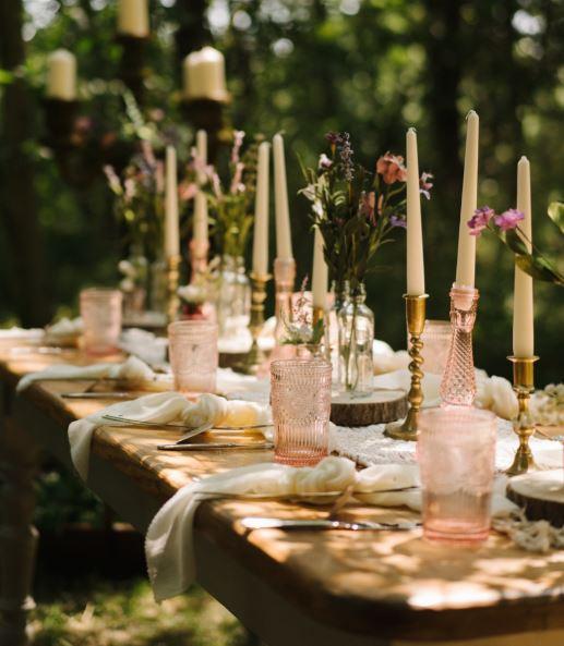 Pink Wedding Cut Glass   Chocolate Falls