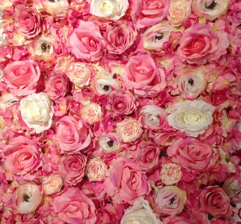 White & Pink Flower Wall Display   Chocolate Falls