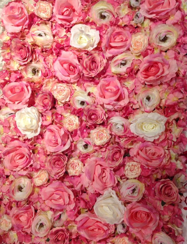 White & Pink Flower Wall Display | Chocolate Falls