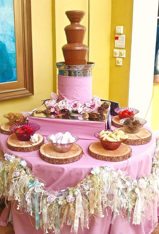 Pink Boho Chocolate Fountain | Chocolate Falls