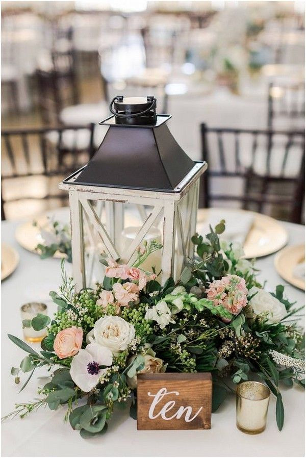 Rustic Natural Lantern Centrepiece | Chocolate Falls