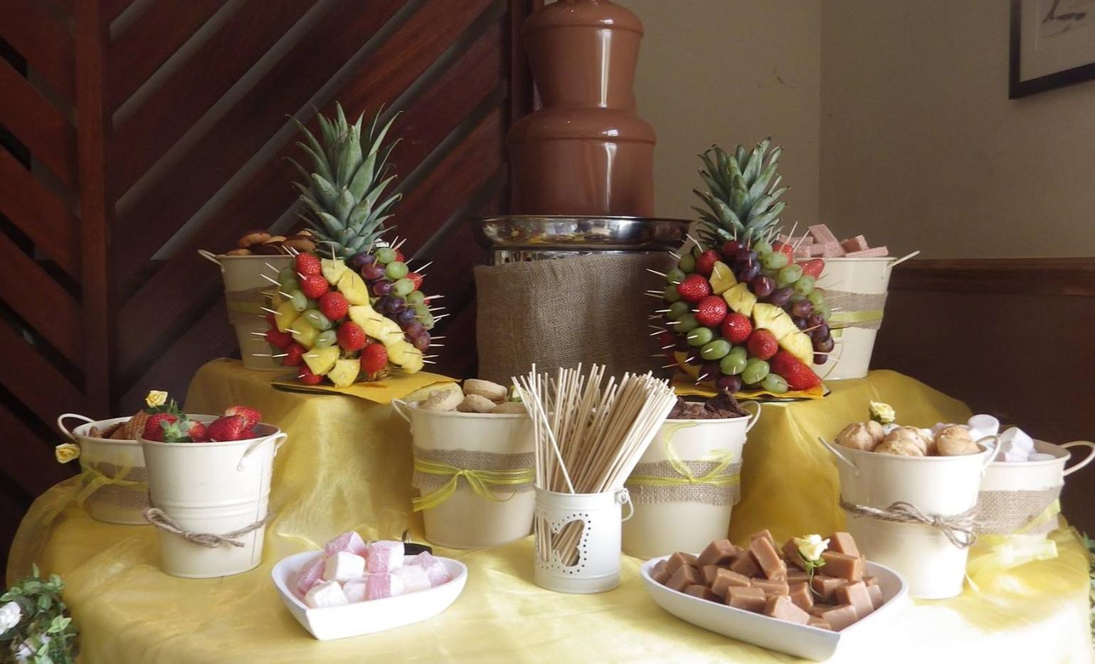 Mini Fruit Tree Dippers | Chocolate Falls
