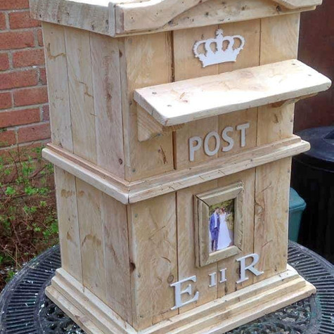 Wooden Postbox Simple Wedding Hire   Chocolate Falls
