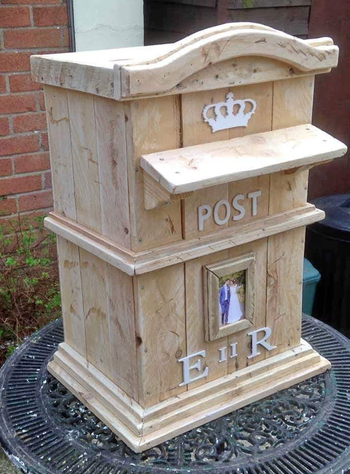 Wooden Postbox Simple Wedding Hire | Chocolate Falls