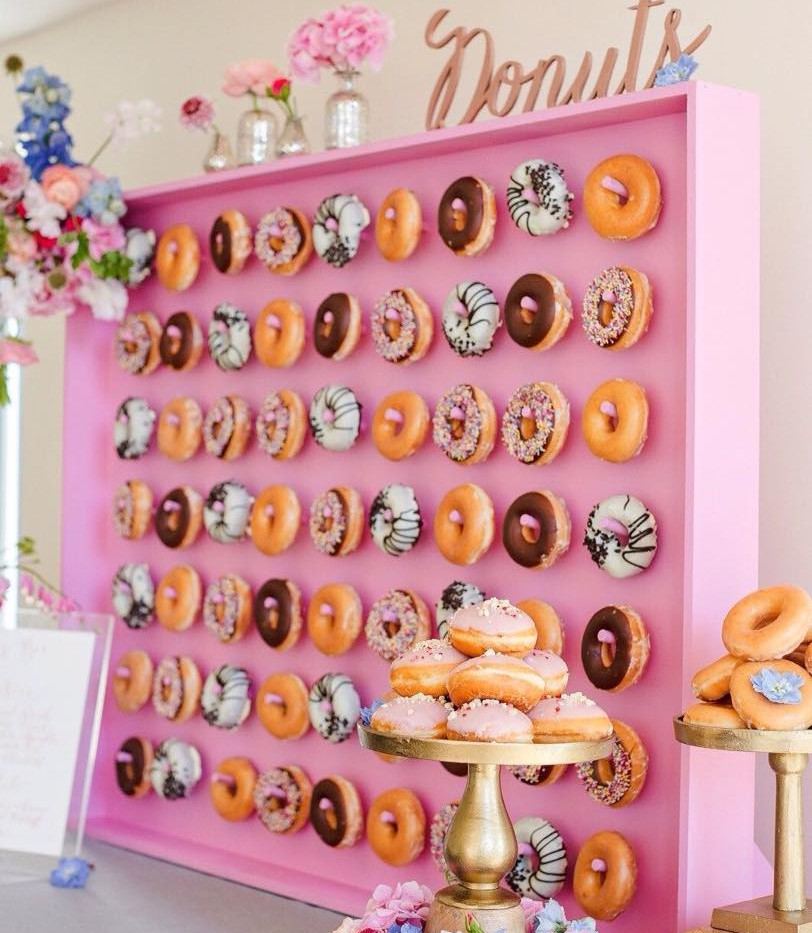Pink Donut Wall Birthday Party | Chocolate Falls