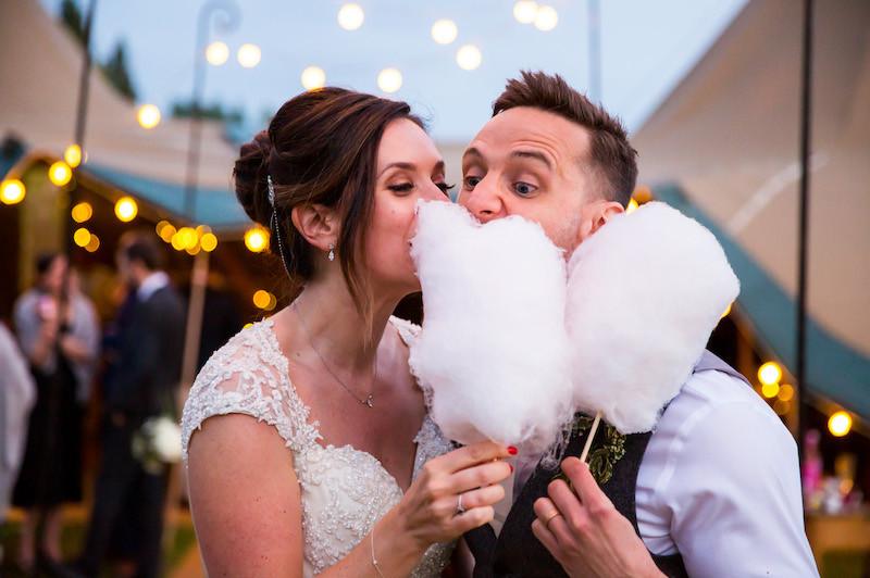 Wedding Couple Candyfloss | Chocolate Falls