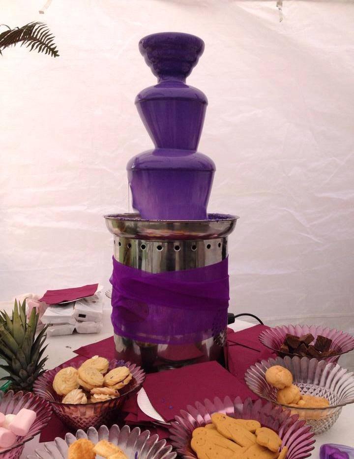Purple Chocolate Fountain | Chocolate Falls