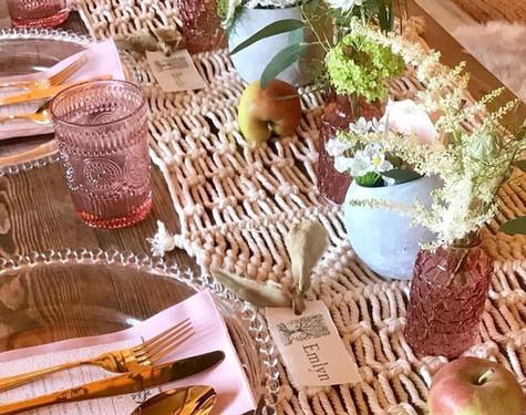 Macrame & Summer Wedding setup   Chocolate Falls