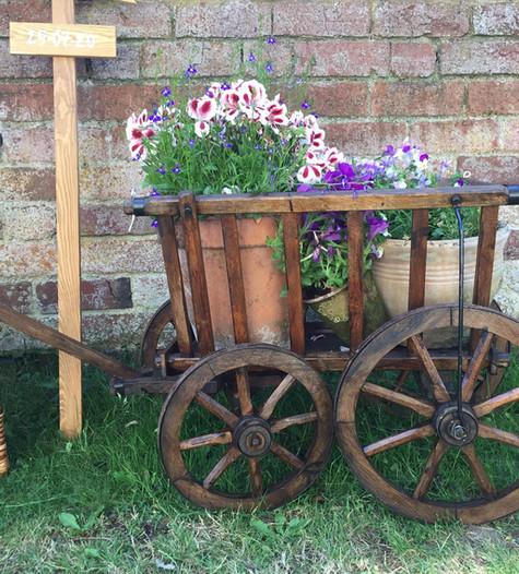 Flower Cart Display | Chocolate Falls