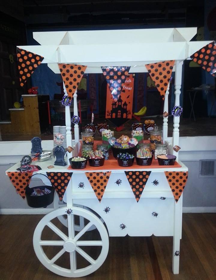 Halloween Candy Cart | Chocolate Falls
