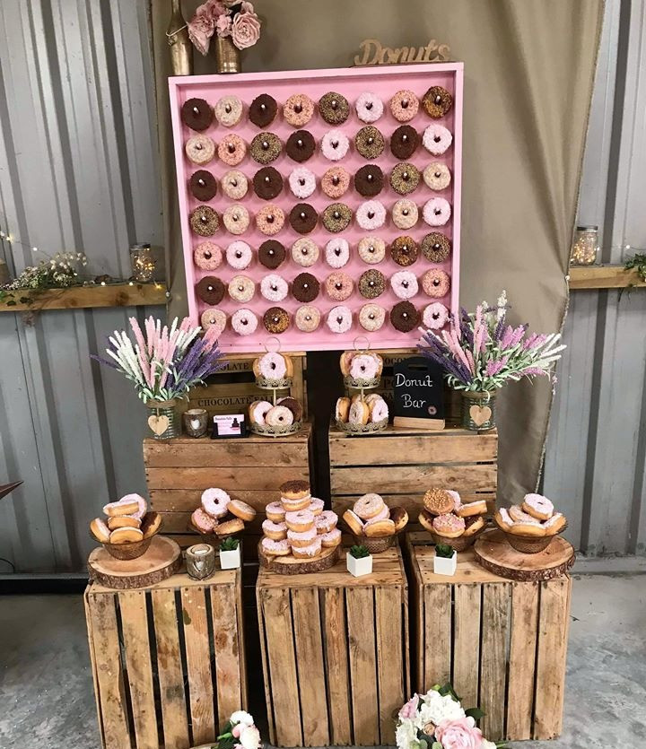 Pink Donut Wall HIre | Chocolate Falls