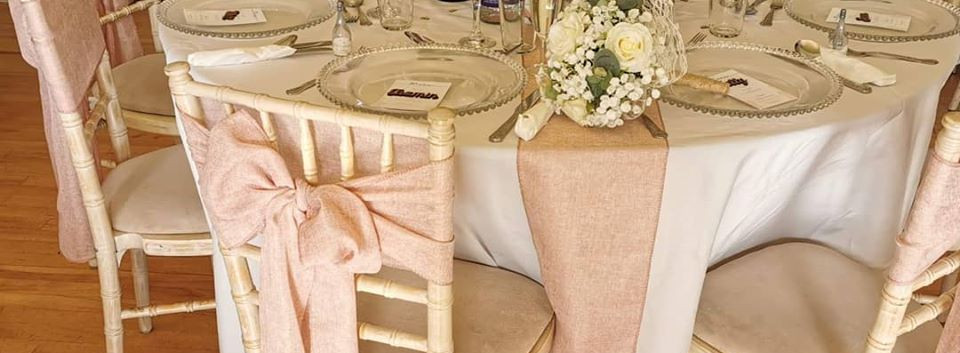 Pink Chair Covers | Chocolate Falls