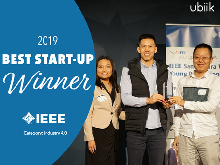Ubiik wins Best Start-Up Award presented by IEEE
