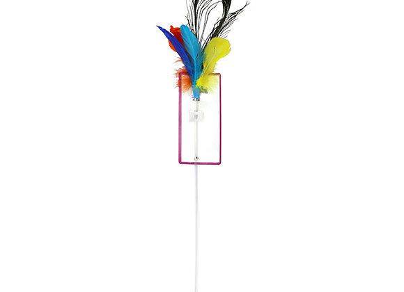 Canne à pêche plumes