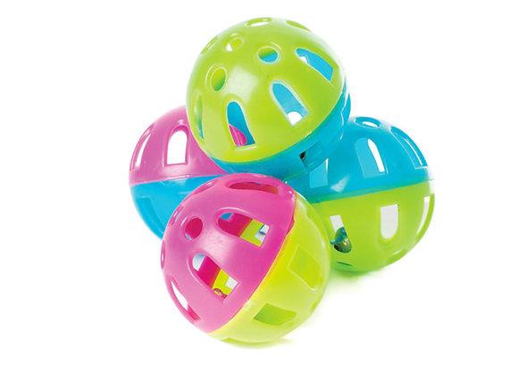 Balles plastique grelots