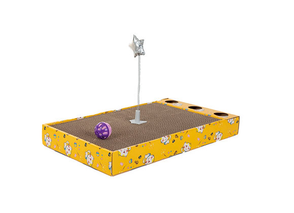 Griffoir en carton avec jouet