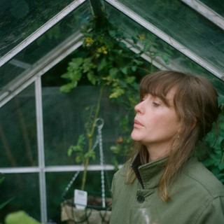 kate in her greenhouse