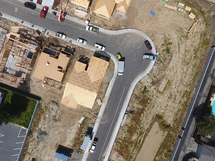 aerial view of a residential neighborhood development
