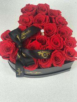 Love Flowerbox mit Roten Rosen ( Ring al