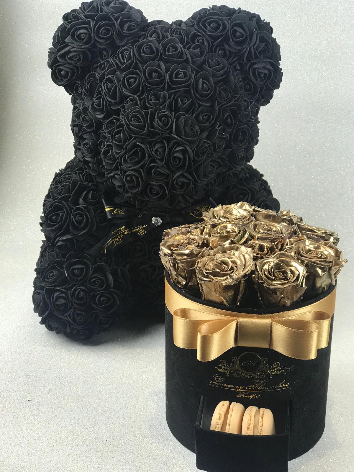 Black Velvet (Samt) Flowerbox Set