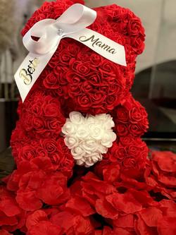 Muttertag Rosenbär Rot