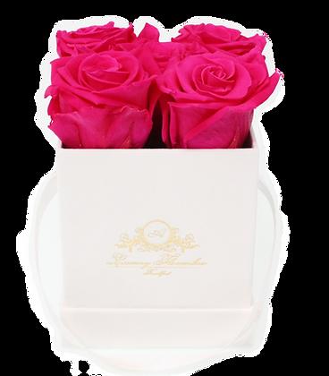 Velvet Square Flowerbox Weiß S