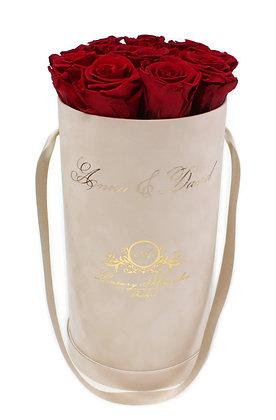 Personalisierte Glamour Flowerbox Beige M