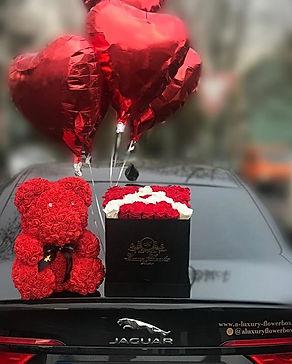 Flowerbox Lieferservice, love inthe air,rosenbox fran