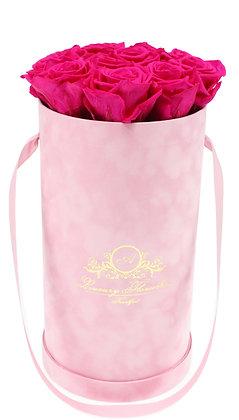 Glamour Velvet (Samt) Flowerbox Rosé M