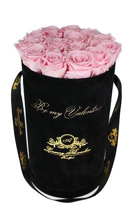 Personalisierte Glamour Black Velvet (Samt) Flowerbox L