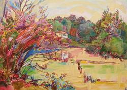 Rivière en automne rougit