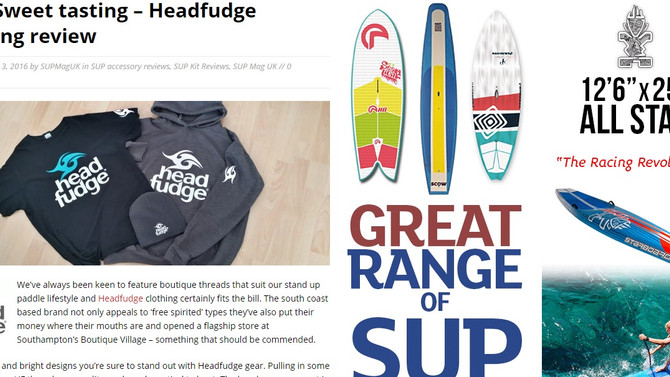 SUP Mag UK reviews Headfudge Clothing