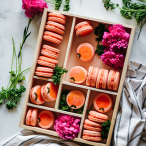 Peachy French Macarons