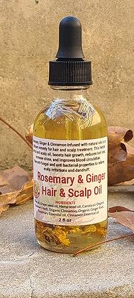Rosemary & Ginger Hair & Scalp Oil