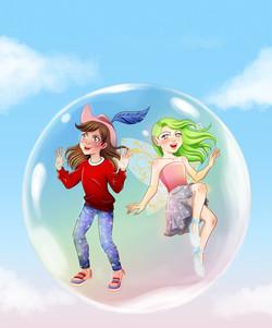 """Ilustração para o livro """"Isabel através do espelho"""" - Sara Pessoa"""