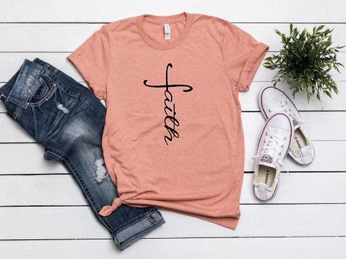 Faith Tee - Coral