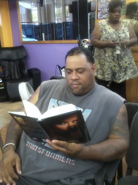 Even in the barbershops